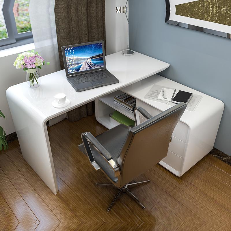 Máy tính để bàn - PC    Modern computer desk contracted fashion combination of the lacquer that bak