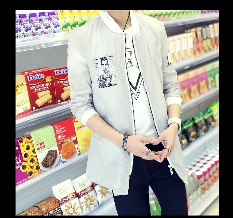 Summer explosion models men's ultra-thin sun protection clothing long printing fashion Korean men s