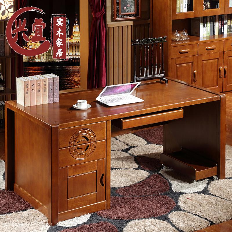 Máy tính để bàn - PC   Oak solid wood desk laptop desk solid wood desk desk manufacturers selling m