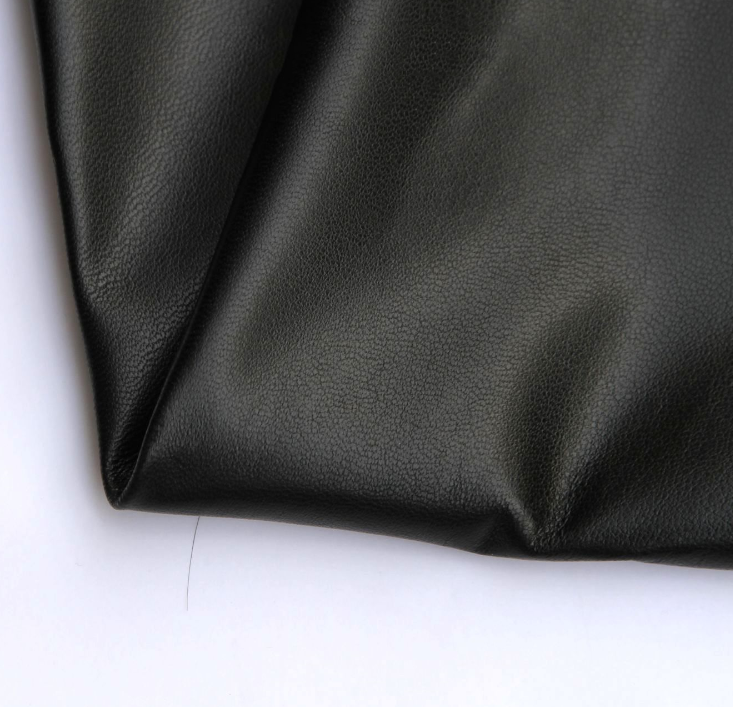 Haining factory direct black sheep skin leather leather leather fabric material wholesale leather cl