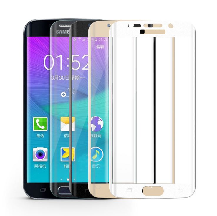 Miếng dán cường lực  For Samsung S6 edge curved tempered glass membrane membrane edge plus full-scre