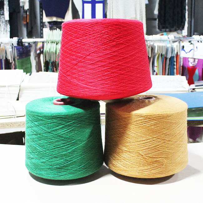Sợi dệt   Fall Winter pin explosion semi-worsted 2 / 42NM silver wool blended yarn blended yarn seri