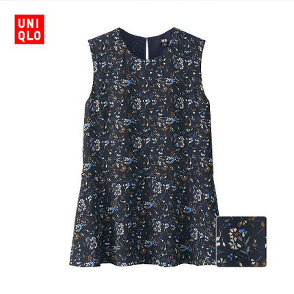 Áo sơ mi Women georgette sleeveless shirt printing 169,011 UNIQLO