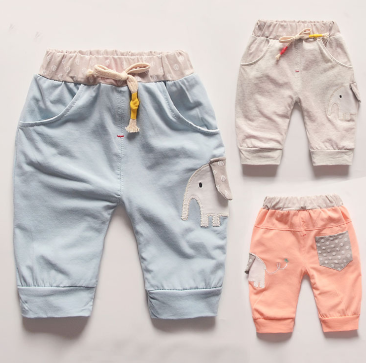 Quần 2016 summer paragraph boy pants casual pants influx of men and women baby children Korean versi