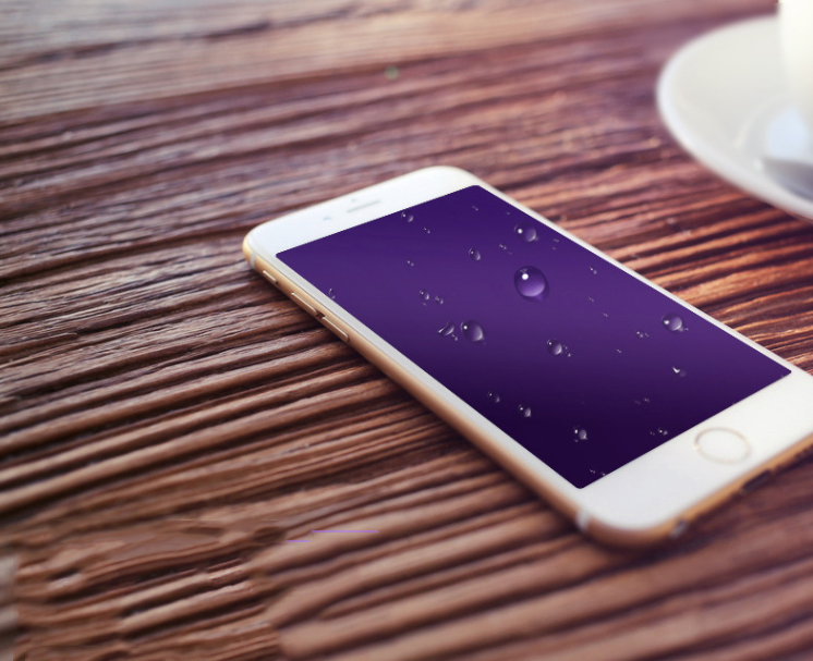Miếng dán cường lực  iphone 6s full coverage purple steel blue film anti-Apple anti-6 blue steel fac