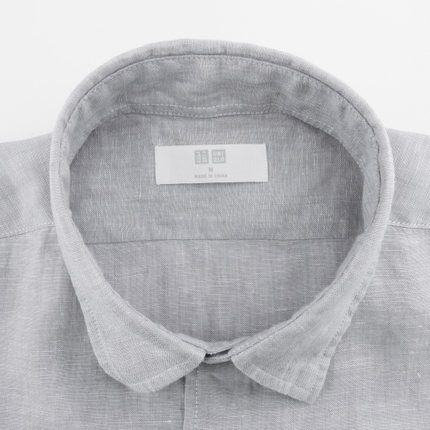 Men's Senior hemp shirt (long sleeves) 164 218 UNIQLO UNIQLO