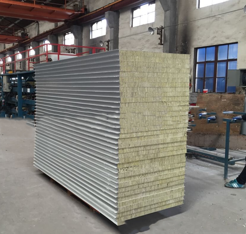Mạ màu   Hui Yuet good plate rock wool sandwich panel, color steel, clean plate, gold plate, steel