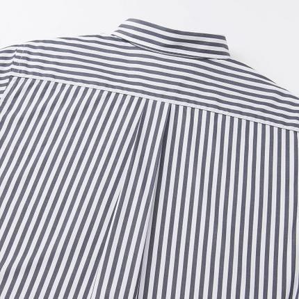 Áo sơ mi    Men's high-quality long-staple cotton striped shirt (long sleeves) 178 726 UNIQLO UNIQL