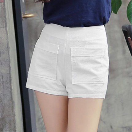 Korean homes have clothes Korean Women 2016 summer new fashion solid color pocket was thin straight