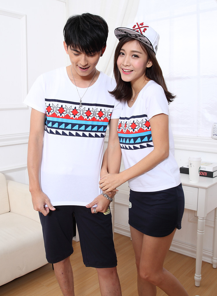 Áo thun   The new 2016 summer lovers Korean student couple sets of men and women short-sleeved t-sh