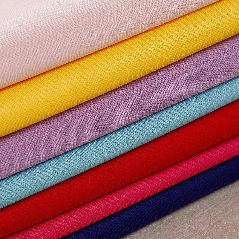 Vật liệu tổng hợp Factory sales spot 75D Luoma Bu Fuge clothing bottoming pants elastic fabric dyein