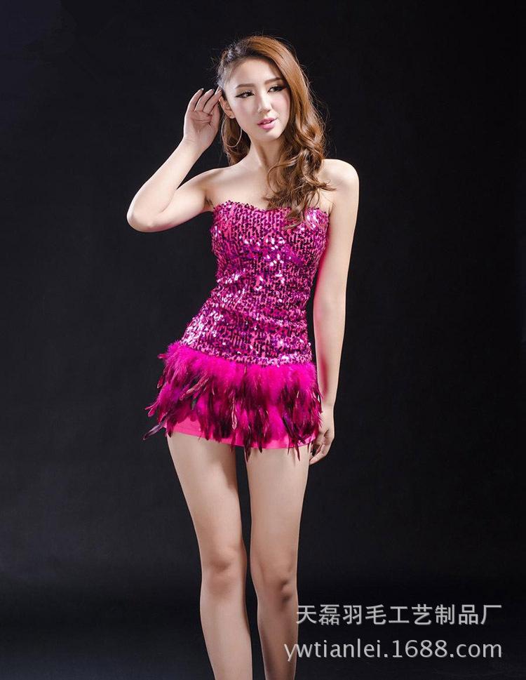 NLSX vải   Supply cock felt sharp edge tape colored feathers feather skirt hem Clothing material 13-