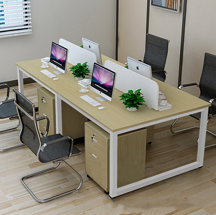 Contracted and contemporary work desk computer desk clerk Many people combination screen for office