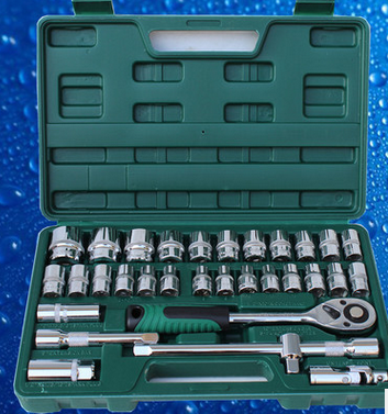 Blue Extension 32 sleeve combination tool set hardware tools car repair sleeve socket wrench sets Wr