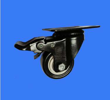Jian Ning Light Diamond 2 inch flat double brake wheel brake wheel trolley casters of high-quality f