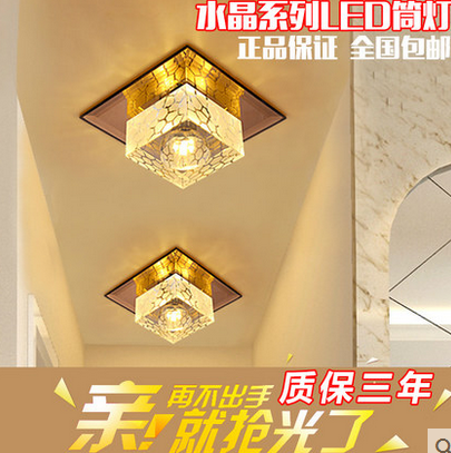 vỏ chụp đèn trần  Yu Hui Square crystal aisle lights porch lights balcony lamp home led ceiling cor