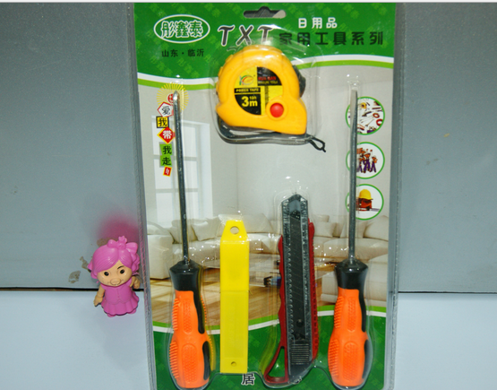 Dụng cụ tổng hợp   Tape measure screwdriver combination tool Set wallpaper knife five sets