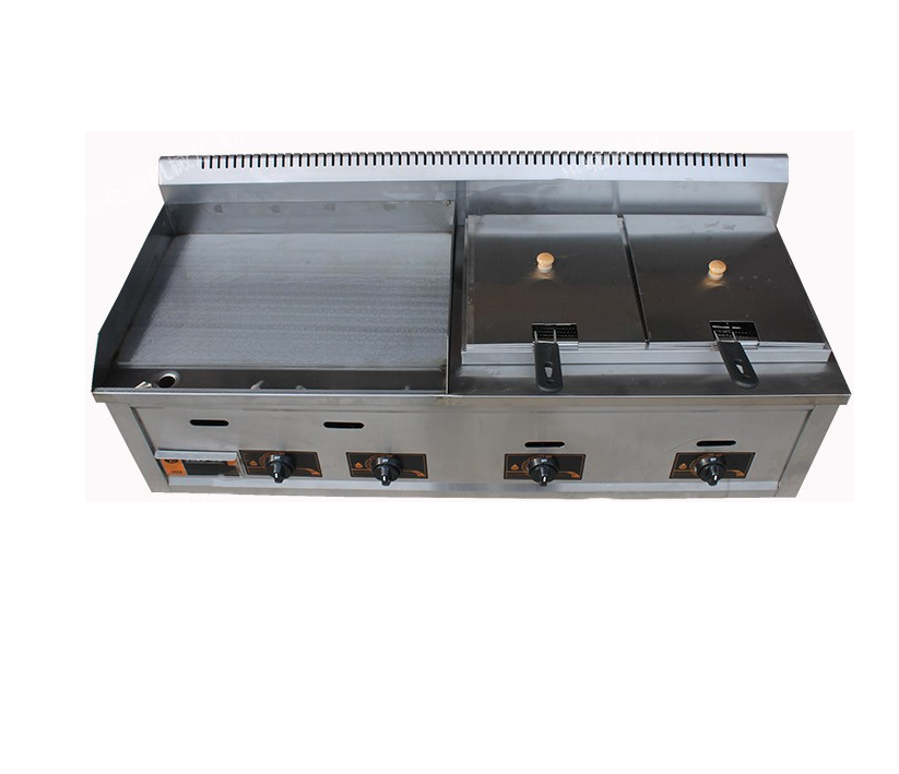 LPG Gas Griddle grilled squid machine grasping cake machine teppanyaki equipment fryer Commercial