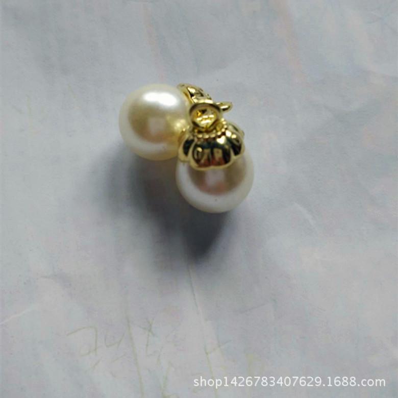 Đầu khoá kéo Spot factory direct high-quality light gold pearl head [strong] do not fade can mix and