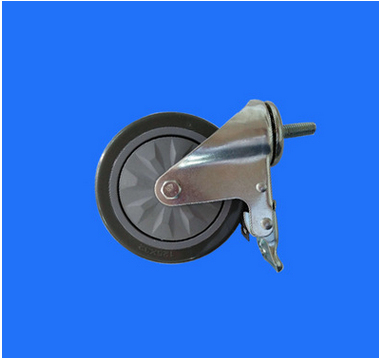 bánh xe đẩy(Bánh xe xoay)  Medium sized 5 inch m12x30pvc double brake wheel 5 inch TPR mute senior