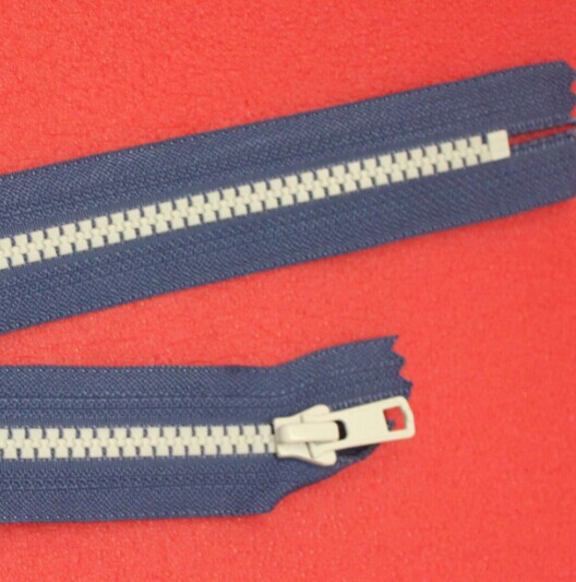 Dây kéo nhựa YKK zipper resin, YKK zipper decoration, hit the color codes with teeth zipper, a free