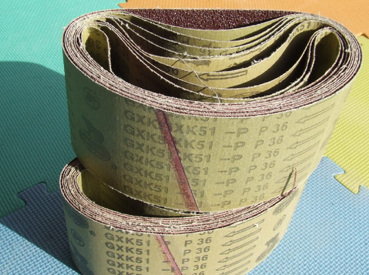 Vật liệu mài mòn 610 * 100 sharp Belt GXK51-P GXK51-B Hubei Yuli Belt Xiamen Abrasives