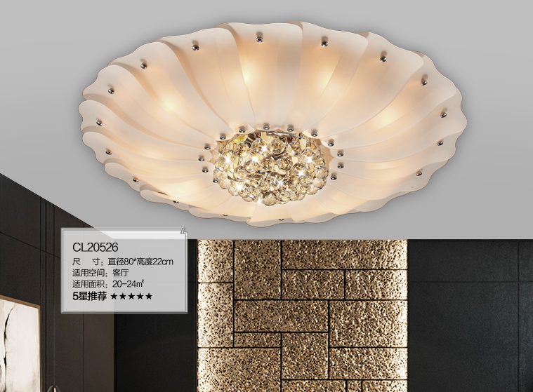 vỏ chụp đèn trần Austrian duo ceiling circular crystal lamp bedroom lamp lighting living room cozy a