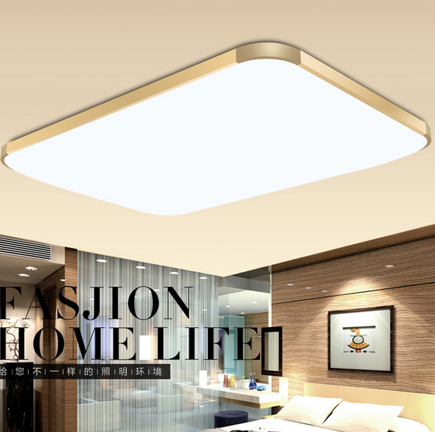 vỏ chụp đèn trần Op LED ceiling lighting thin rectangular living room bedroom den restaurant lights
