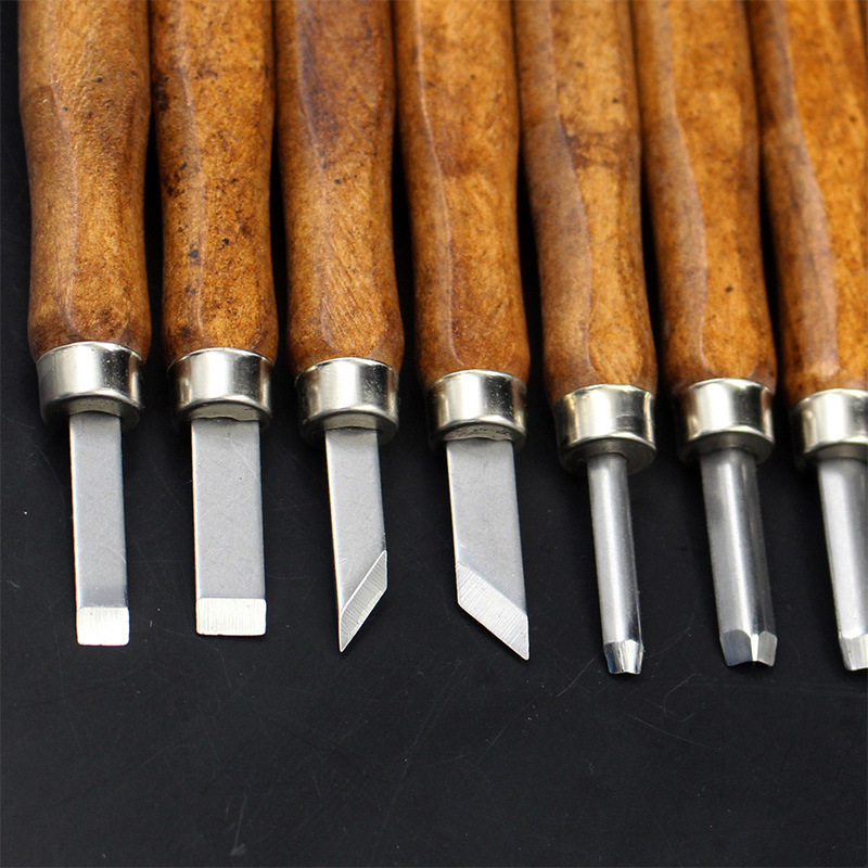 Down chisel imitation mahogany three loading / 8 loading / 12 installed wood chisel handmade knife