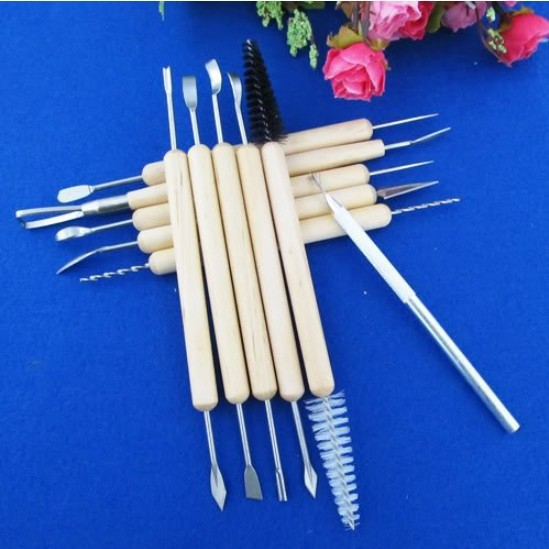 11 Fimo clay tools clay knife lace diy pottery clay sculpture tools carving knife Set