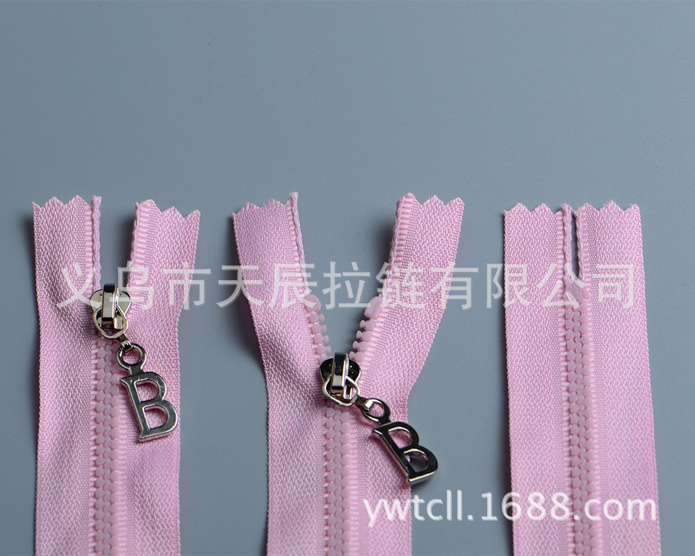 Dây kéo nhựa  Custom 3g # resin zipper resin zipper closed end