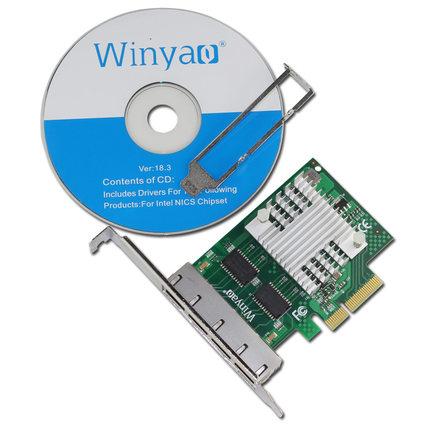 Winyao WY1000T4 PCI-e Server four Gigabit Ethernet aggregation ESXI intel I350-T4
