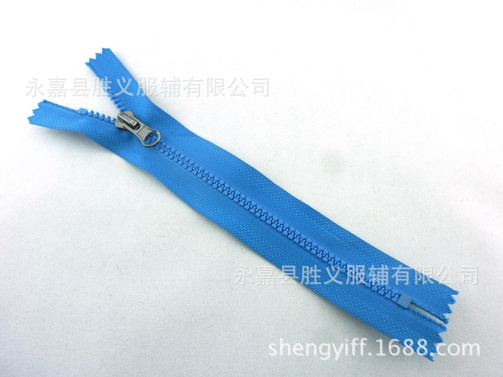 Dây kéo nhựa   Supply # 3 resin zipper closed tail, clothing zipper customized, factory direct, thro