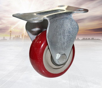 Direct manufacturers, 3 inch gray core red dome polyurethane biaxially oriented wheel wear mute cast