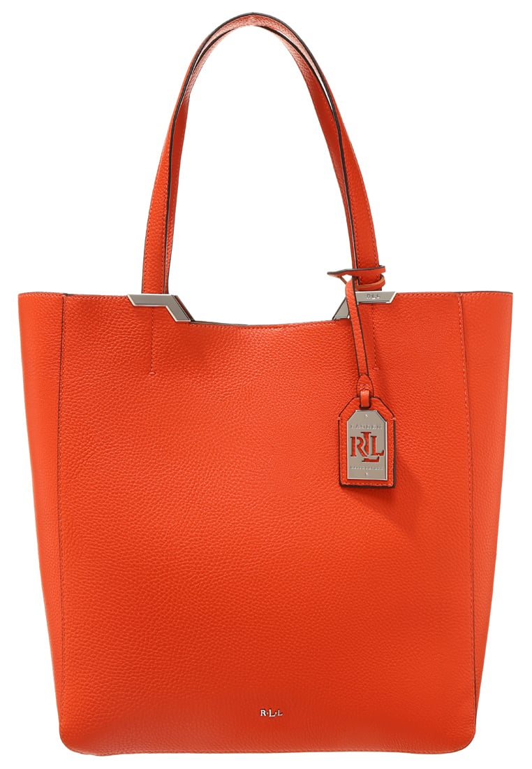 Lauren Ralph Lauren ACADIA - Shopping Bag - bourbon/sunkist