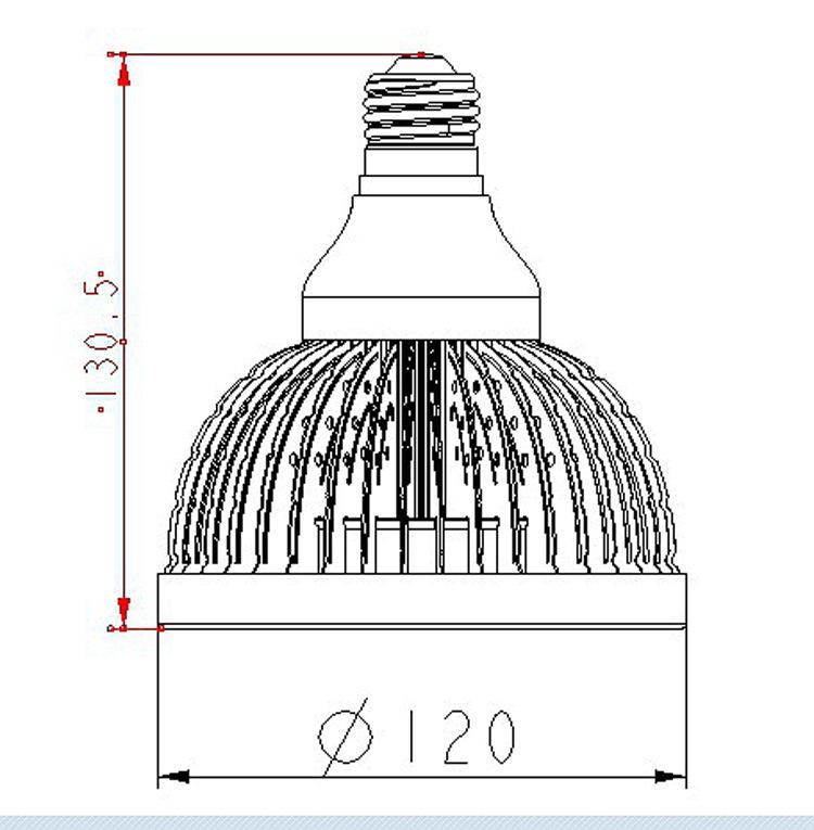 Đèn LED thấu kính  [Mass] supply 12X1.5cree lamp lens 20W new PAR lamp shell lamp