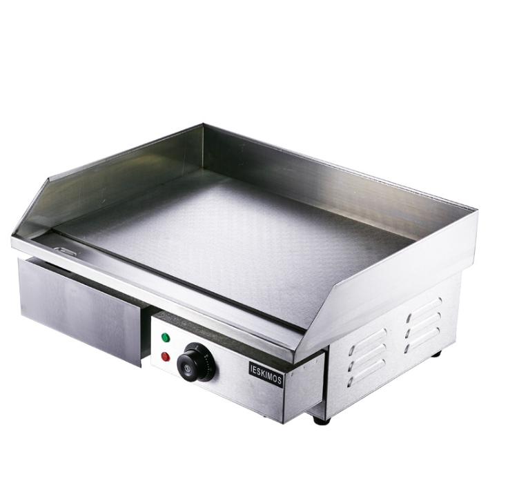 Máy đồ họa 3D và dựng phim   Commercial electric griddle iron squid teppanyaki equipment thick flat