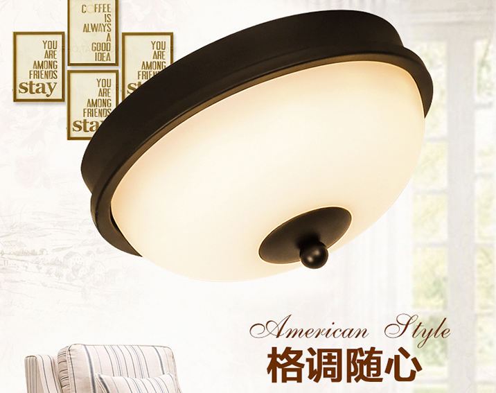 vỏ chụp đèn trần  American country ceiling balcony aisle lights entrance corridor lights simple hom