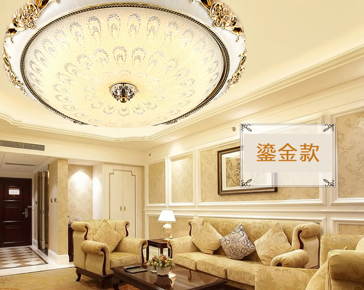 vỏ chụp đèn trần  European-style living room lamps round led ceiling bedroom lamp romantic room lam