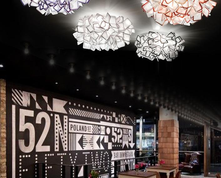 vỏ chụp đèn trần Top grade cloud Contracted personality bedroom ceiling lamp modern fashion Nordic I