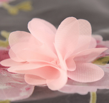 Vải thêu   Factory direct sales of polyester rotten flower B version of Eugen yarn set flower embro