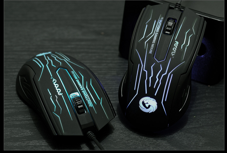 Thị trường phụ kiện vi tính  Luminous usb wired mouse game mouse breathing light office notebook co