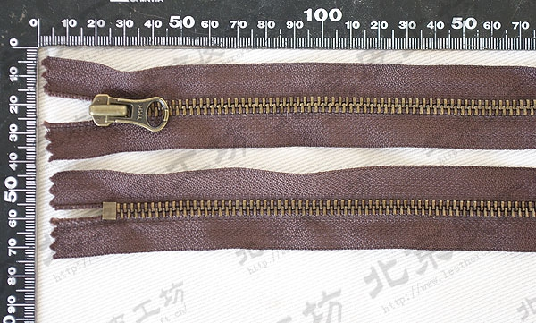 Dây kéo kim loại  Bronze brown tooth No. 5-50 cm-day YKK zipper 44640-05