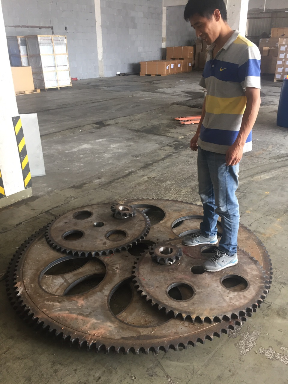 Dây curoa  Non-calibration done large sprocket gear