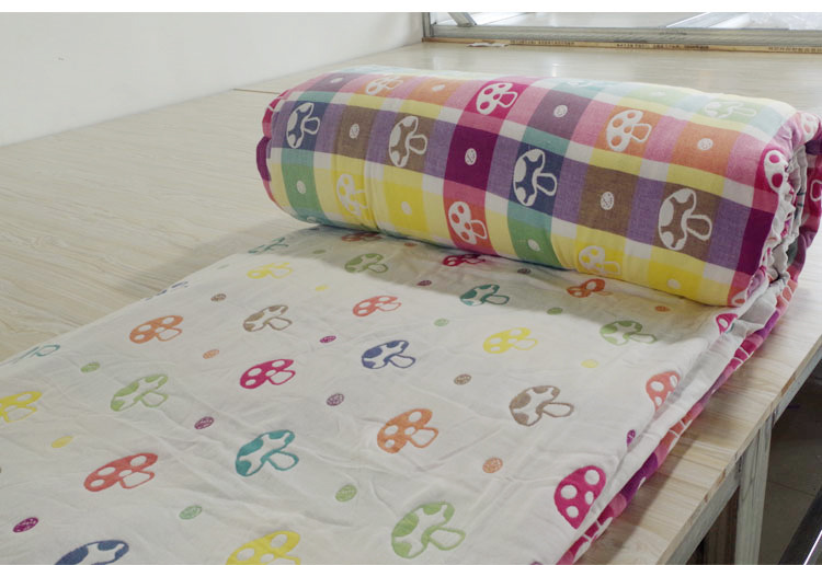 Vải  mộc Gao Yang factory direct fabric 100% cotton infant baby gauze cotton jacquard textile