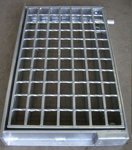 Nắp cống  The steel grid ditch cover plate grid stainless steel galvanized steel plate composite st