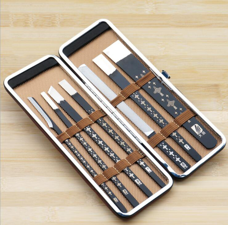 Dao điêu khắc   Exhibition stainless steel pedicure tool holder decoration A repair exfoliate callu