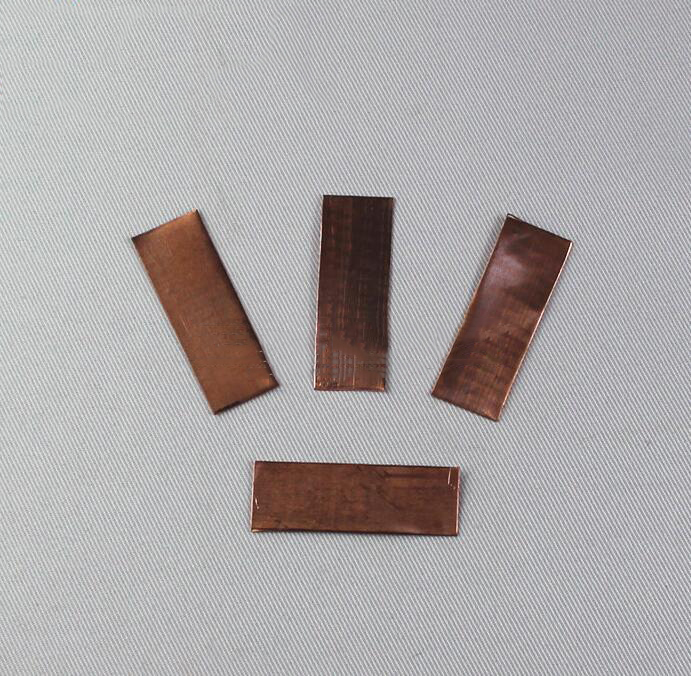 Copper conductive materials electrode material 50 mm * 20 mm for chemical experiment teaching instru
