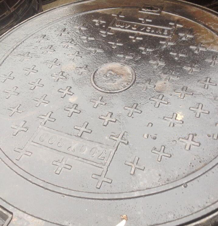Nắp cống  300x500 nodular cast iron manhole cover rain Olivier trench ditch sewer cover