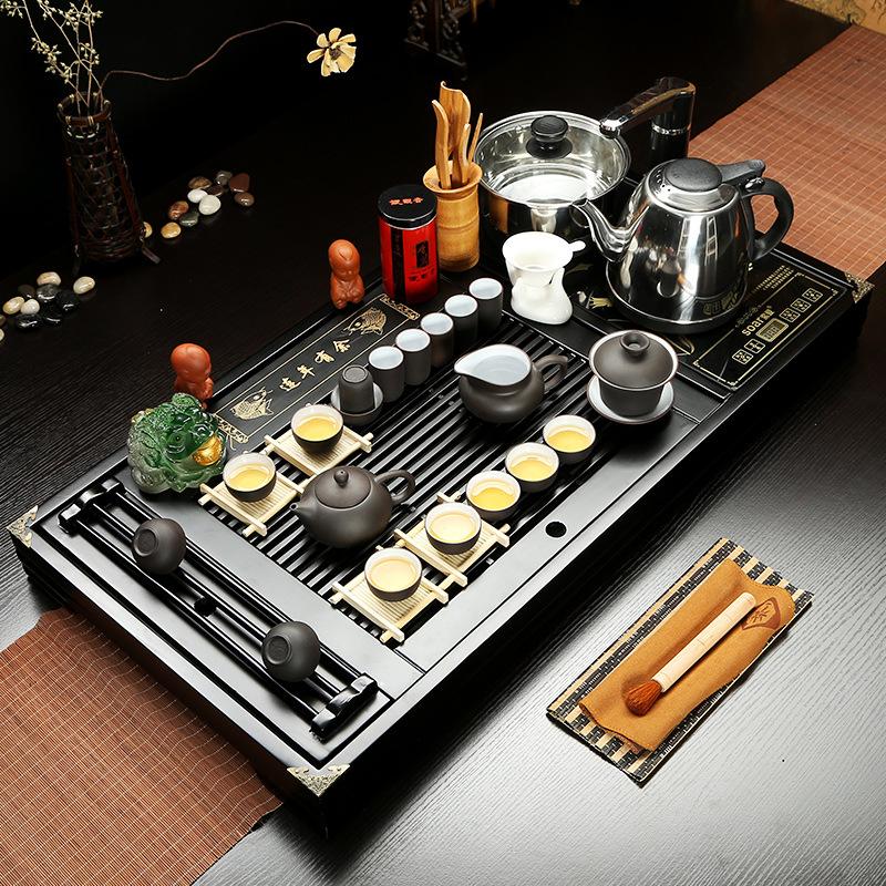 Bộ bàn trà đạo và các dụng cụ pha trà, có kèm bếp cảm ứng SHUNCHAN